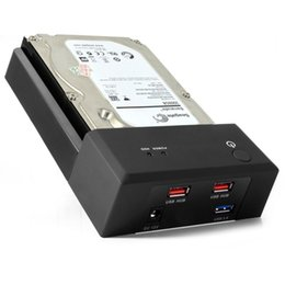 """Wholesale Usb Sata Port - HDD Enclosure dock Station USB 3.0 HDD Case for 2.5'' 3.5"""" Sata hard disk up to 3TB With 2 Ports USB2.0 HUB"""