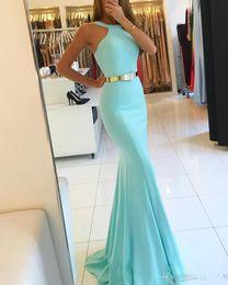 Wholesale Satin Sash Mint Green - 2018 Sexy Plus Size Long Evening Dresses Mint Green Bridesmaid Dress Long Mermaid Prom Gowns