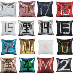 2019 volle krippe bettwäsche setzt Pailletten Kissenbezug Abdeckung Mermaid Kissenbezug Glitter Reversible Sofa Magic Double Reversible Swipe Kissenbezug 23 Design