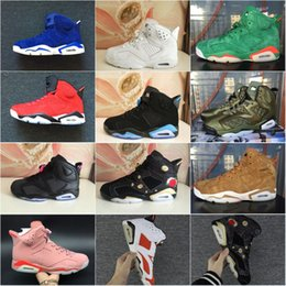 Wholesale Air Plastics - Wholesale Retro 6.0 Basketball shoes Men Air Cushion 2018 Plastic Sneakers Boots 2018New High Quality Outdoor Sports Shoes Size 7-13