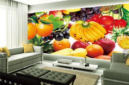 Wholesale Fruit Wall Decor - 3d fruit wallpaper photo wall mural for living room TV sofa background walls decor living papel pintado pared rollos murals