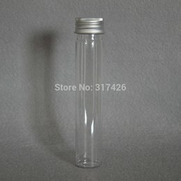 Skin Care Tools Refillable Bottles 1pcs 40ml Clear Mask Bath Salt Test Plastic Tube Empty Pet Cosmetic Tube Refillable Bottles With Aluminum Cap