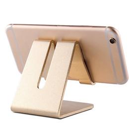 2019 paquete al por menor de aluminio 2018 Universal Aluminium Metal Teléfono móvil Soporte de escritorio Soporte de tableta para iPhone 7 Plus Samsung s8 plus ZTE Max XL con paquete al por menor paquete al por menor de aluminio baratos