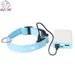 Wholesale Cat Usb Flash - Nylon Pets Dog Led Night Safety Flash Light Collar Glowing Puppy Cats Collars LED Dog Collar USB rehargeable