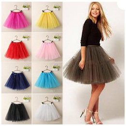 Wholesale Dance Tutus For Adults - Dance Ballet Skirt Tutu Princess bubble skirt Party Costume Dancewear For Kid Girls Kids Adult pure colour A-line lovely