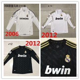 137321160e raul soccer jersey Coupons - 2005-2006 Real madrid retro football  sweatshirt TOP 2012 Real