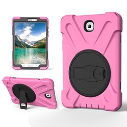 Wholesale Covers For S3 - Rotating Kickstand Case For Samsung T585 P580 T820 Heavy Duty Robot Hard Back Cover for Samsung Galaxy Tab A E S3 S2