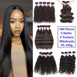 Wholesale cheap ombre hair - Wholesale Virgin Brazilian Body Wave Hair Weaves Cheap Peruvian Straight Water Wave Hair Indian Kinky Curly Deep Wave Human Hair Extensions