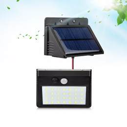 Wholesale Sensor Wired Pir - AIMENGTE Solar powered LED Night lights outdoor 3 models Separable solar PIR Motion Sensor LED light lamp with 2.5M wire cable