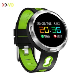 Wholesale Oled Display Color - X9-VO Color OLED Display Round Smart Wristband Heart Rate Blood Pressure Smart Band Waterproof IP68 Support Swimming Pedometer