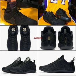 Wholesale horse cuts - High Quality Kobe 11 Elite Mens Men Basketball Shoes Kobe 11 Red Horse Oreo Trainers KB 11 Sports Sneakers Black Gold Size EUR 7 - 12