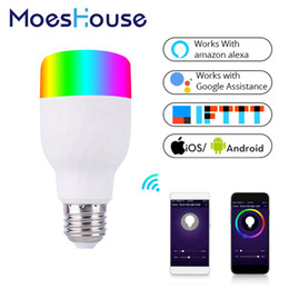 Argentina WiFi Bombilla de luz inteligente Lámpara LED colorida e inteligente 7W RGBW APP El control remoto funciona con Alexa Google Suministro
