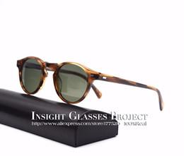 Wholesale Black Famous People - high quality Retro men  women sunglasses famous brand Oliver peoples ov5186 Gregory Peck polarized lens round eyeglasses oculos de graus