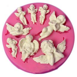 Il silicone muove il bambino online-Angelo bambino rosa stampo in silicone cioccolato stampi caramelle torta fondente che decora gli attrezzi diy torta di pasticceria stampi da forno qb88088 spedizione gratuita
