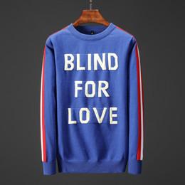 09fa8e8b467c2 lana de tigre Rebajas BLIND FOR LOVE wolf tiger rayas impresas hombres  invierno suéter azul mens