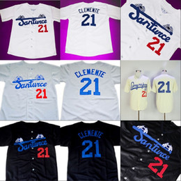 Roberto CLEMENTE  21 Santurce Crabbers Puerto Rico Jersey 100% Stitched  Custom Baseball Jerseys Any Name   Number Free Shipping inexpensive puerto  rico ... ac5cfe1cf