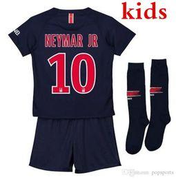 JR 10 Kids soccer jersey 2018 2019 Child MBAPPE CAVANI DI MARIA T SILVA  PASTORE baby football shirt Maillot de foot AAA Thailand cheap baby  football shirts 429440862