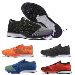 big sale 3b96a 3c28e Nike Flyknit Racer A buon mercato Air Huarache I Scarpe da corsa per uomo  Donna, Verde Bianco Nero Oro rosa Sneakers Triple Huaraches 1 Scarpe da  ginnastica ...