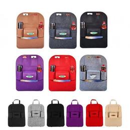 Wholesale Wholesale Clothing Magazines - 500pcs Auto Car Back Seat Storage bag Car Seat Cover Organizer Holder Bottle tissue box Magazine Cup Food Phone Bag backseat Organizer H394b