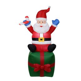 Statues de noël en Ligne-Père Noël gonflable Noël Père Noël gonflable Décoration de fête de Noël mignon