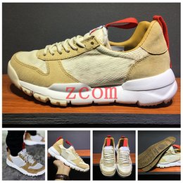 Wholesale Natural Rubber Flooring - Tom Sachs x Craft Mars Yard 2.0 TS NASA Running Shoes for men AA2261-100 Natural Sport Red Shoe Zapatillas Vintage Sneakers Size36-45