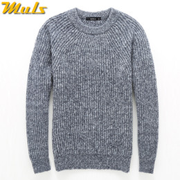 Wholesale plus size dresses knitted - 4Colors Heavy-Knit Sweater Men Pullovers Thick Winter Warm Sweater Jumpers Women Autumn Male Female Dress knitwear Plus size 4XL