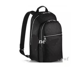 Wholesale motorcycle top bags - DISTRICT Top quality famous fashion designer men women backpack fashion shoulder bags silver zipper backpacks school bags N58024
