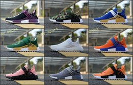 Wholesale pw blue - Discount Human Race Pharrell PW Hu Equality Vegeta Sports Running Shoes Dragon Ball Mens Outdoor Pink Women Trainer Sneaker Size 36-45