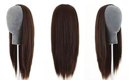 3/4 halbe Perücke 100% indische Remy Menschenhaar seidige gerade Haareinschlagkappe verschiedene Farben zu wählen 12-22