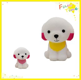 Wholesale Pink Dog Scarf - New Two Styles Squishy Slow Rising Lovely Dog with scarf Entertainment Antistress Stress Relief Toys Squeeze Funny Gadget
