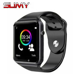 Canada Bluetooth A1 W8 Montre Smart Watch pour Apple Android Wristwatch Support SIM / Carte TF Appel Smartwatch pour Enfant Enfants Cadeau avec Caméra cheap w8 camera Offre