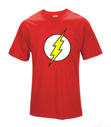 Wholesale big bang t shirts - The BIG BANG Theory T-SHIRT The Flash Print Women and Men T Shirts Hot Selling Casual Tee Shirt S~XXXL Cotton Clothing Dropship