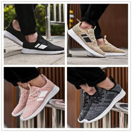 b5465a99c1c 2018 Pas Cher Vente NEO cloudfoam PURE Casual Chaussures de Course pour  Haute qualité Noir Gris Rose Hommes Femmes Casual Formation Chaussures  Sneakers ...