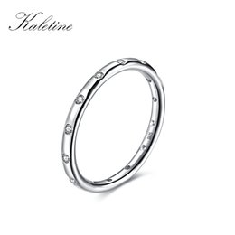 Wholesale wholesale stackable rings - whole saleKaletine 925 Sterling Silver Rings For Woman Jewellry 2018 Stackable Finger Classic Ring for Women Wedding Fine Jewelry