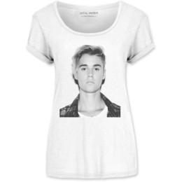 cubierta bieber Rebajas Justin Bieber Love Yourself Poster Album Cover Camiseta blanca oficial de las mujeres para mujer chaqueta de cuero de Croacia