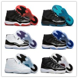 Wholesale Women Size 11 Shoes - New Concord White Black Retro 11 For Men Women Basketball Shoes Discount 11s Concords Top quality Athletic Sport Sneaker Size 36-47 With Box