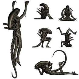 Wholesale Alien Movie Figure - 4-7cm Alien monster Free over the alien action figure Toy Collection Movie model Martial arts children gift Anime electronic pet