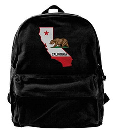 уникальные карты Скидка Карта California Bear Холст Плечо Рюкзак Уникальный Спортивный Рюкзак Для Мужчин Женщин Подростков Колледж Путешествия Рюкзак Черный