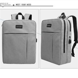 Бесплатная доставка бизнес ноутбук рюкзак водонепроницаемый с USB порт зарядки и наушники, подходит под 17-дюймовый ноутбук от
