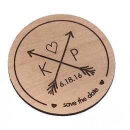 Kreismagneten online-Speichern Sie die Datums-Magneten, die rustikales kundenspezifisches Holz die Datums-Kreise gravieren sparen