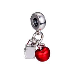 2018 Otoño 925 Joyería de Plata Esterlina Blancanieves de Apple Corazón Granos del Encanto Se Adapta a Pulseras Collar Para Las Mujeres Joyería desde fabricantes