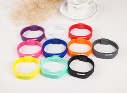 Wholesale Silicone Wristband Printed Logo - Led Mini Electronic Watch The New Sports Wristband Silicone 10 Colors Printed Logo For A Good Gift Free Samples