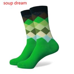 2019 tubes de rêves [soupe de rêve] Brandmen et les femmes 2018 Tube Diamond Socks Hommes Chaussettes peignées pour hommes Casual 2 paires promotion tubes de rêves
