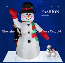 Wholesale Inflatable Foot - 8 Foot Giant Inflatable Hands Up Snowman Yard Holiday Christmas Decoration With Good Quality