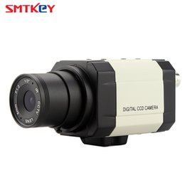Wholesale mini ccd color camera - Small Mini 960H 700TVL SONY CCD Box Camera Indoor Color Home Security CCTV Camera by SMTKEY