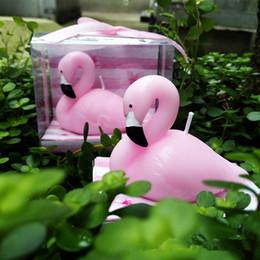 Rosa Crianças Flamingo Bolo De Aniversário Vela Decoração Originalidade  Velas Cerimônia De Casamento Presentes Eco Friendly Party Suppies AAA884 f315ba232ff