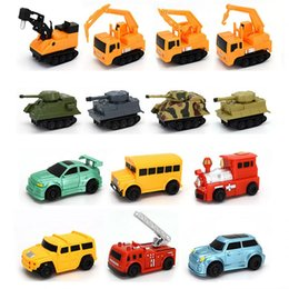 Wholesale Magic Draw - IR Inductive Tank Engineering Car Mini Magic Pen Inductive Vechicle Follow Any Drawn Line Battery Included Inductive Cars Toy for Kids