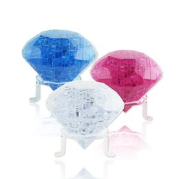 Wholesale jigsaw wholesalers - The Explosion Diamonds Block Jigsaw Puzzle Bueatiful Stereoscopic Crystal Rose Shape Original Toy Colorful Building Blocks 5 8zx W
