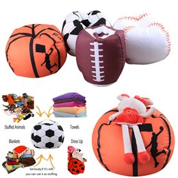 Wholesale wholesale towels plush - Baseball Basketball Football Softball Storage Bags For Kids Baby Play Plush Stuffed Toys Home Blanket Towel Dress Up Organization WX9-549