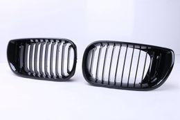Wholesale Grill Doors - 2pcs High Quality ABS Gloss Black Front Kidney Racing Grilles Grills For BMW E46 4 Door 320i 325i 330i LCI 2002 - 2005 Sedan C 5